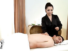 Blowjob, Cumshot, Ebony, Massage