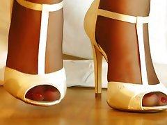 Close Up, Foot Fetish, Lingerie, Pantyhose, Stockings