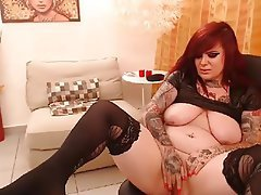 Amateur, Redhead, Tattoo, Webcam