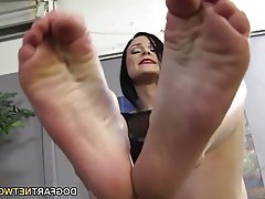 Cumshot, Foot Fetish, Footjob, Hardcore, Interracial