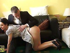 BDSM, British, Handjob, Spanking