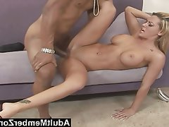 Big Black Cock, Blowjob, Facial, Hardcore, Interracial