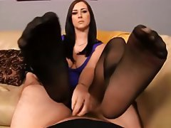 Blowjob, Handjob, Stockings, Pantyhose, Footjob