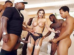 Group Sex, Interracial, Gangbang, Big Cock