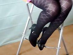 Amateur, Foot Fetish, Lingerie, Stockings