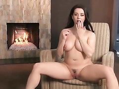 Babe, Big Tits, Masturbation
