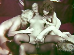 Anal, Cumshot, Group Sex, Interracial, Vintage