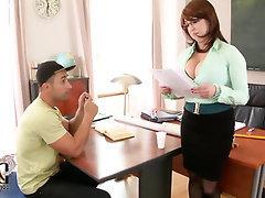 Big Tits, Blowjob, Handjob, Stockings